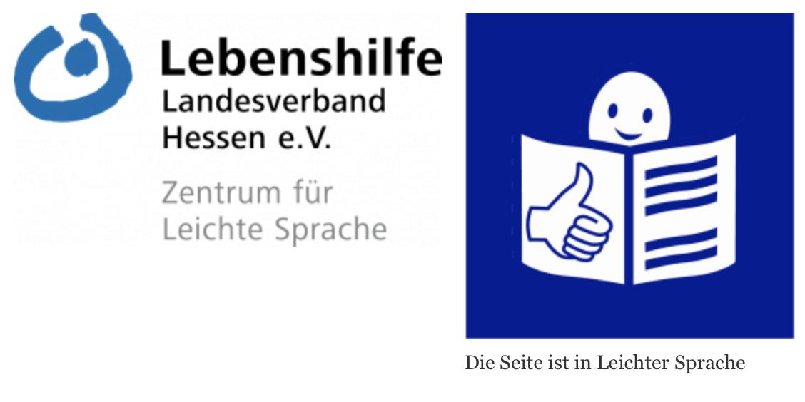 logo Lebenshilfe Landesverband Hessen e.V. & leichtes Lesen